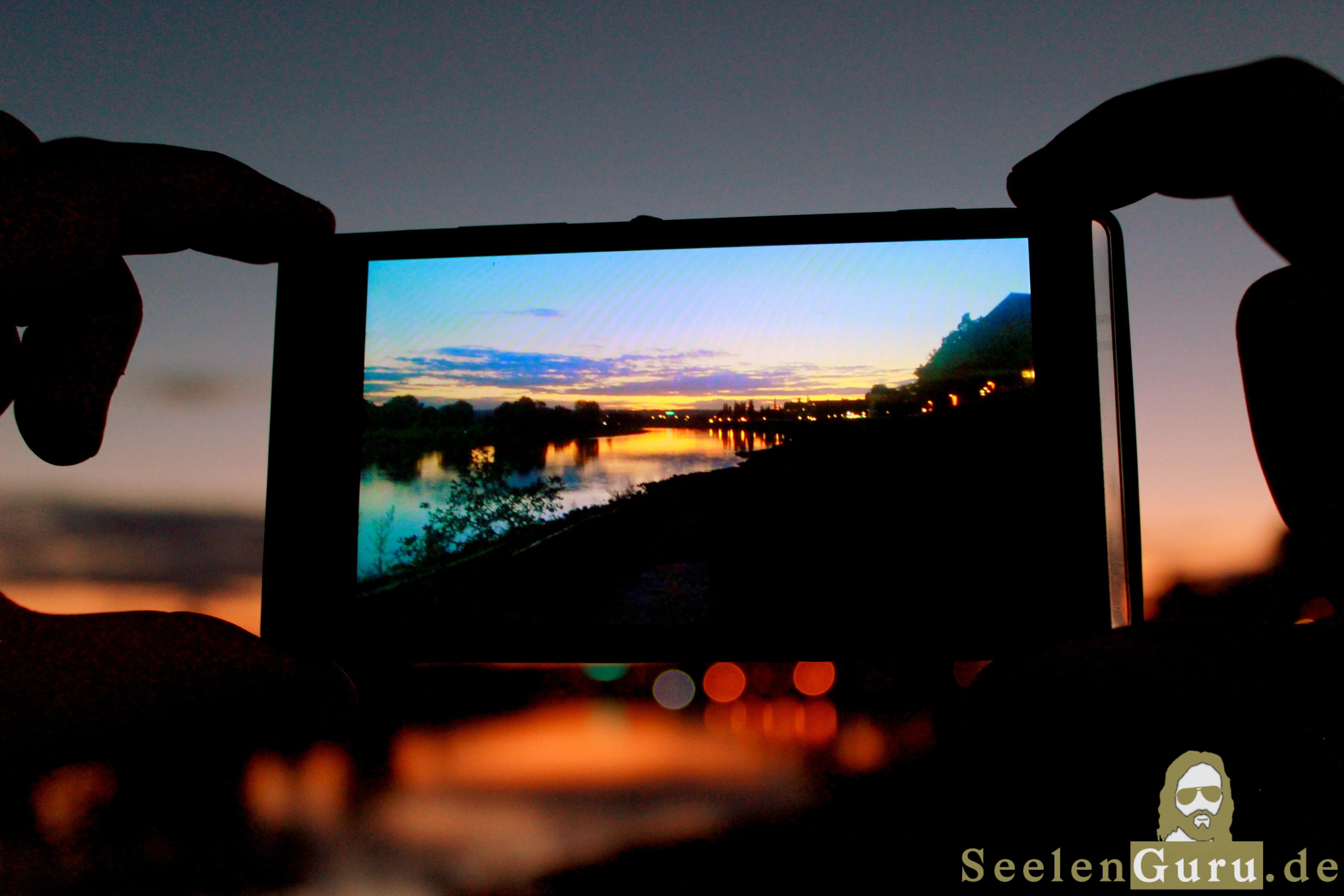 Sonnenuntergang in Dresden per Smartphone