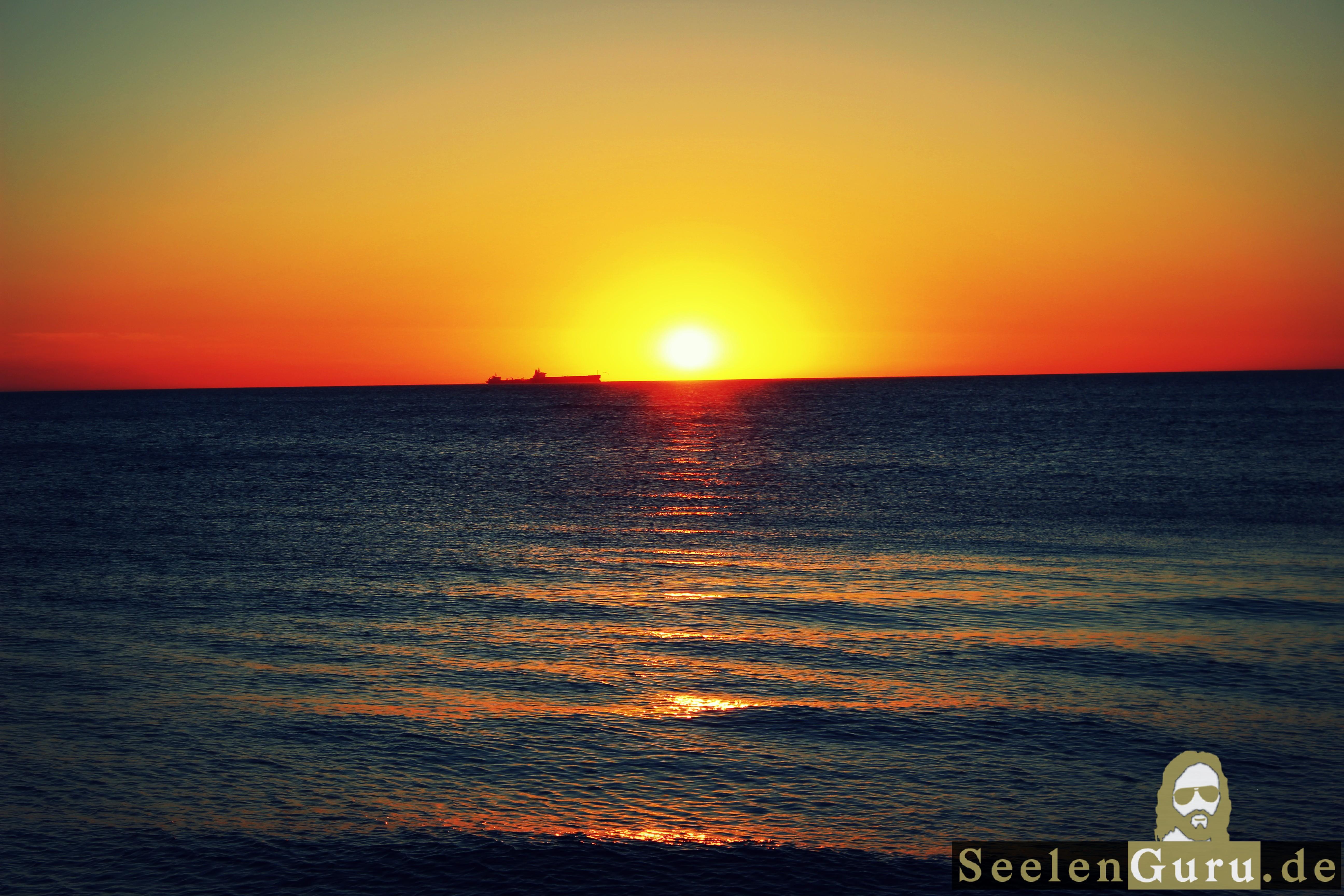 Sonnenuntergang Bilder vom Meer