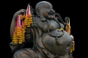 Buddha hört auf Bauchgefühl