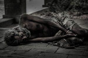 Nächstenliebe bei Obdachlose