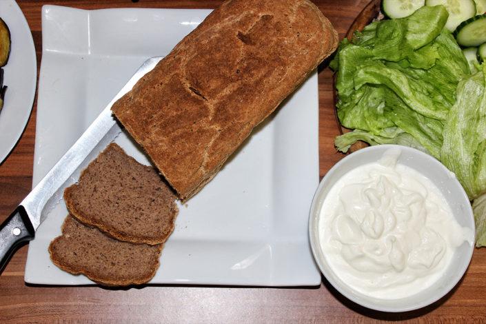Glutenfreies veganes Brot für Sandwich