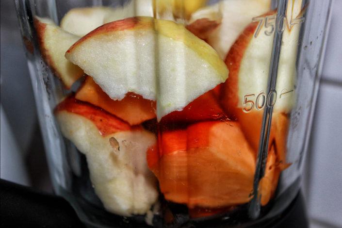 Kaki-Apfel Püree - zuckerfrei, vegan und ohne Gluten