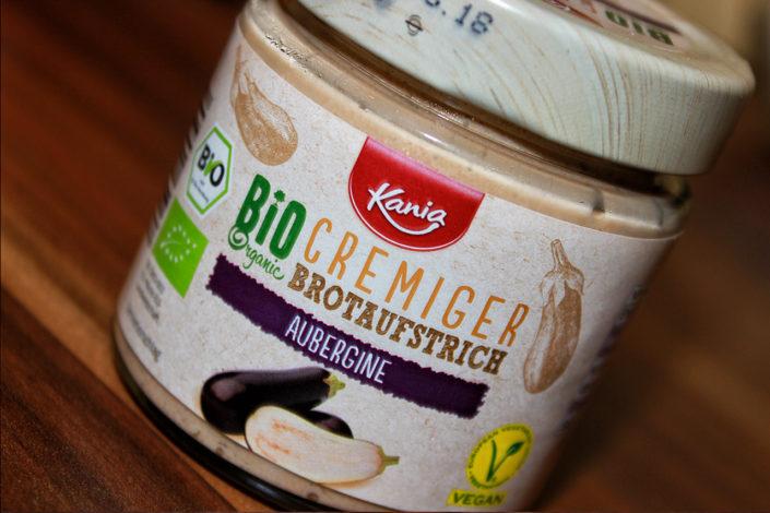 Veganer Kania Bio Brotaufstrich Aubergine von Lidls