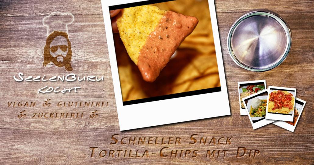 Dip für Tortilla Chips - glutenfrei, zuckerfrei und vegan