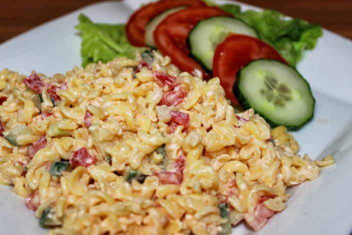 Veganer & glutenfreier Nudelsalat