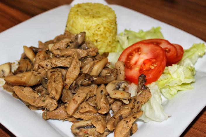 Pilzgeschnetzeltes mit Sojaschnetzel - vegan, glutenfrei & zuckerfrei