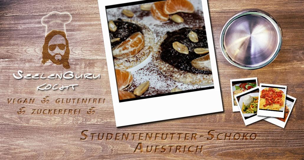 Studentenfutter Schoko Aufstrich selber machen Rezept - vegan, glutenfrei, zuckerfrei
