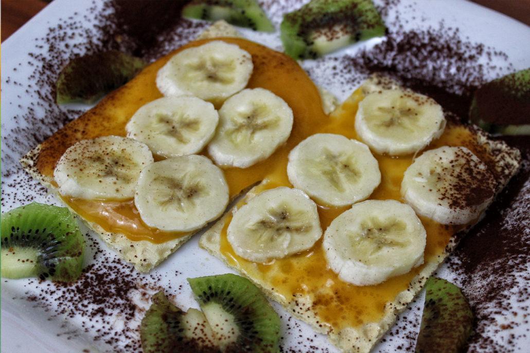 Glutenfreie & vegane Frühstücksidee - Filinchen mit Bananen & Babybrei