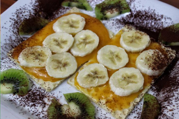 Frühstück - glutenfreie Filinchen mit Babynahrung