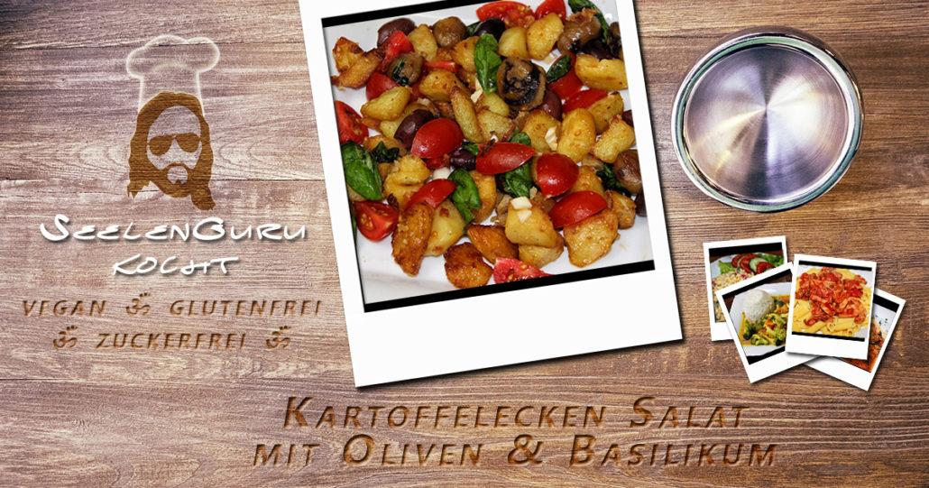 Kartoffelecken-Salat mit Basilikum und Vita Verde Oliven