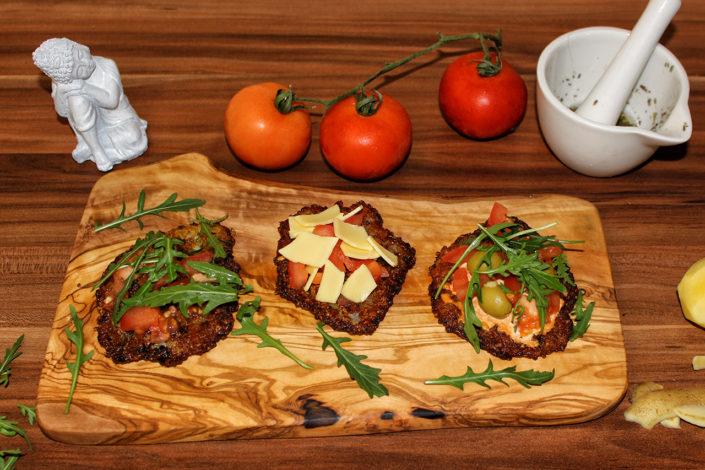 Kartoffelpuffer-Pizza - vegan, gluten- und zuckerfrei