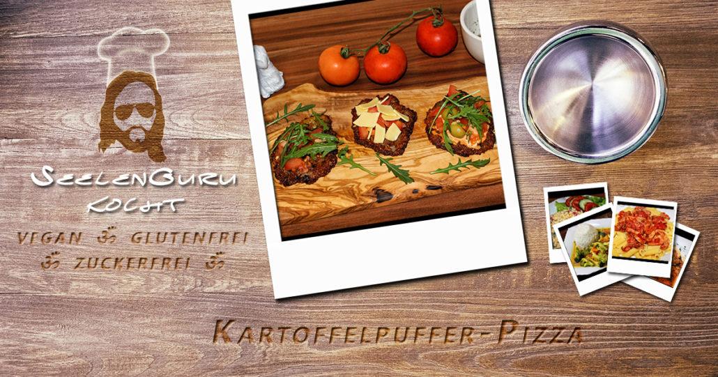 Katroffelpuffer-Pizza - vegan & glutenfrei - SeelenGuru kocht