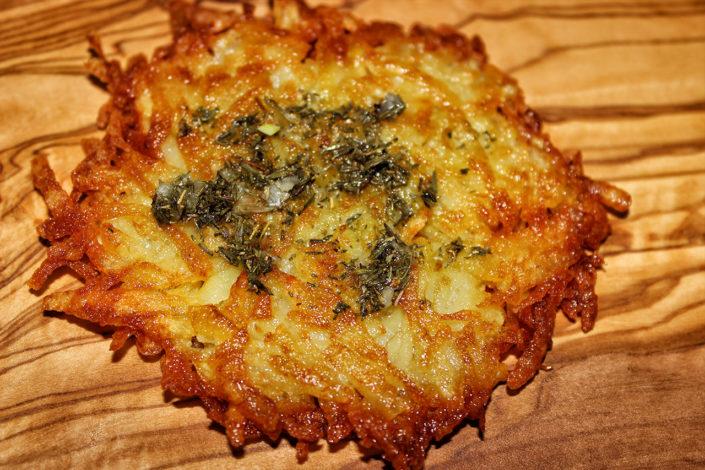 Reibekuchen aus frischen Kartoffeln ohne Mehl