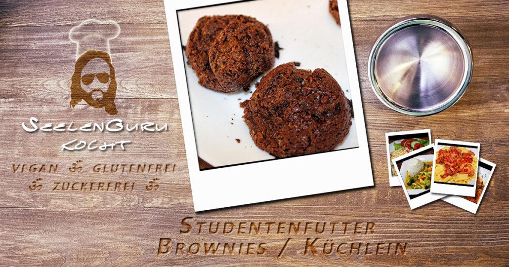 Studentenfutter Brownies-Küchlein - zuckerfrei, glutenfrei und vegan