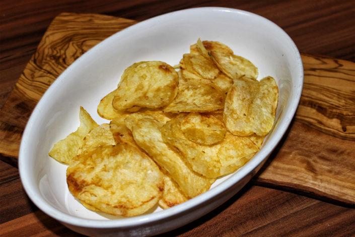 glutenfreie Kartoffelchips für Auflauf