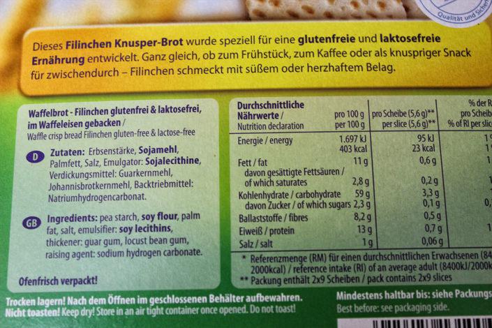 Glutenfreie & vegane Filinchen aus dem Kaufland- Zutaten