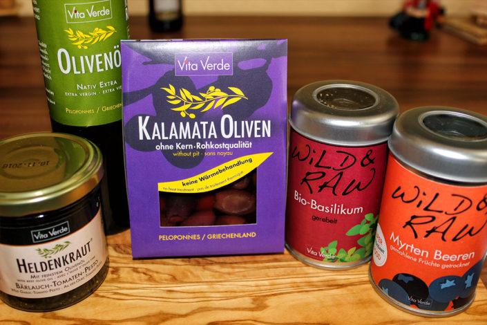 Produktpakat Vita Verde Rohkost Oliven