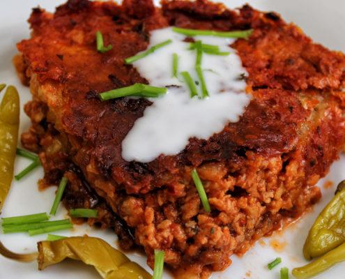 Kartoffelpufferauflauf - vegan, glutenfrei & ohne Zucker