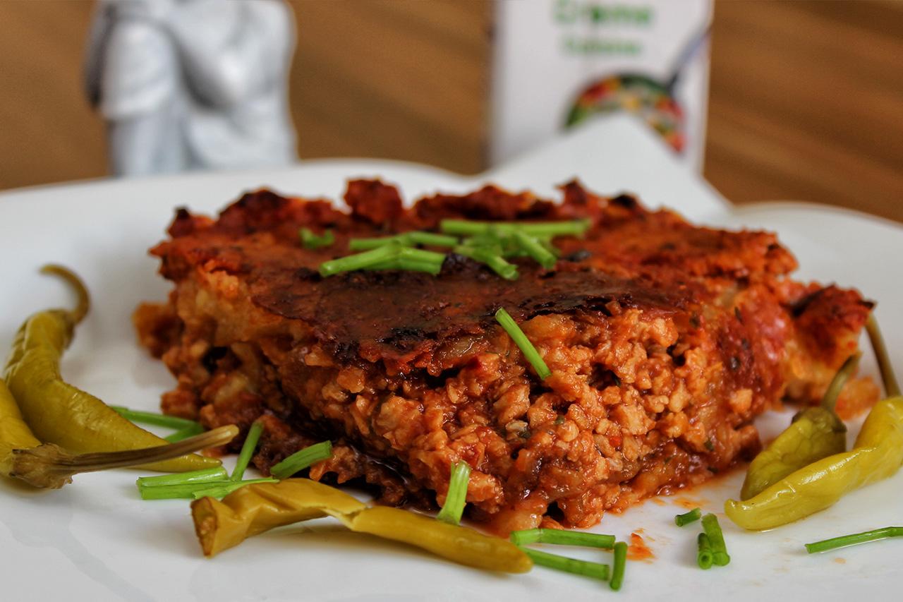 ausgefallenes rezept kartoffelpuffer lasagne auflauf vegan. Black Bedroom Furniture Sets. Home Design Ideas