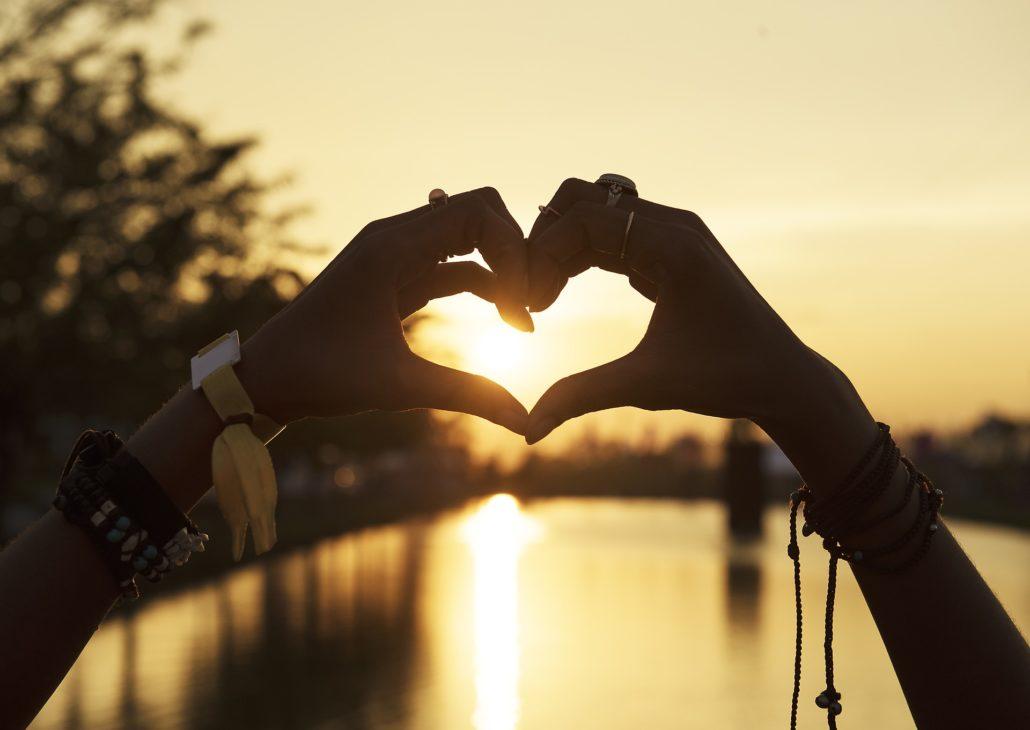 Glücklichsein durch Liebe